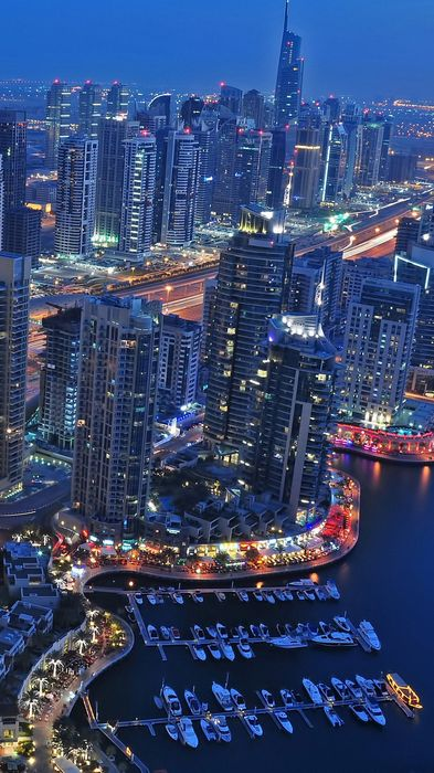 city business district cityscape urban skyline night building