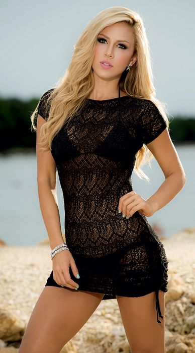 lina posada black dress girl