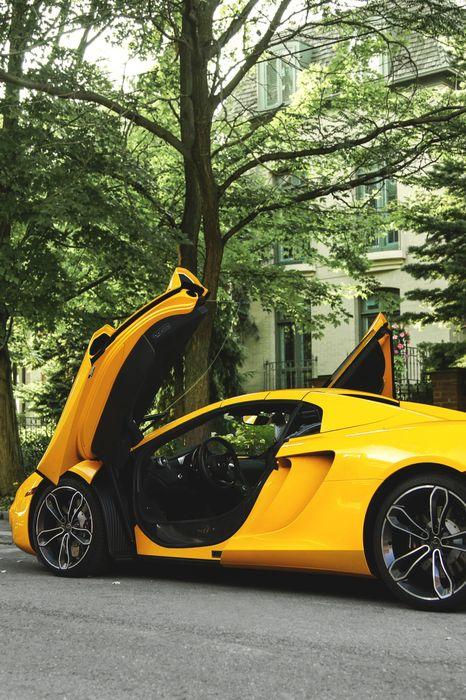 mclaren 12c spider yellow opedoors street 1280x1920