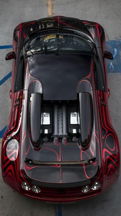 bugatti veyron black red style 1080x1920
