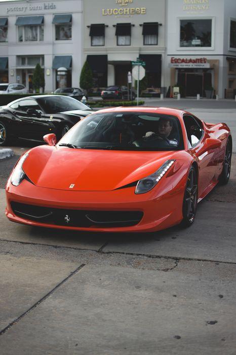 red ferrari 458 italia sportcar street 1280x1920