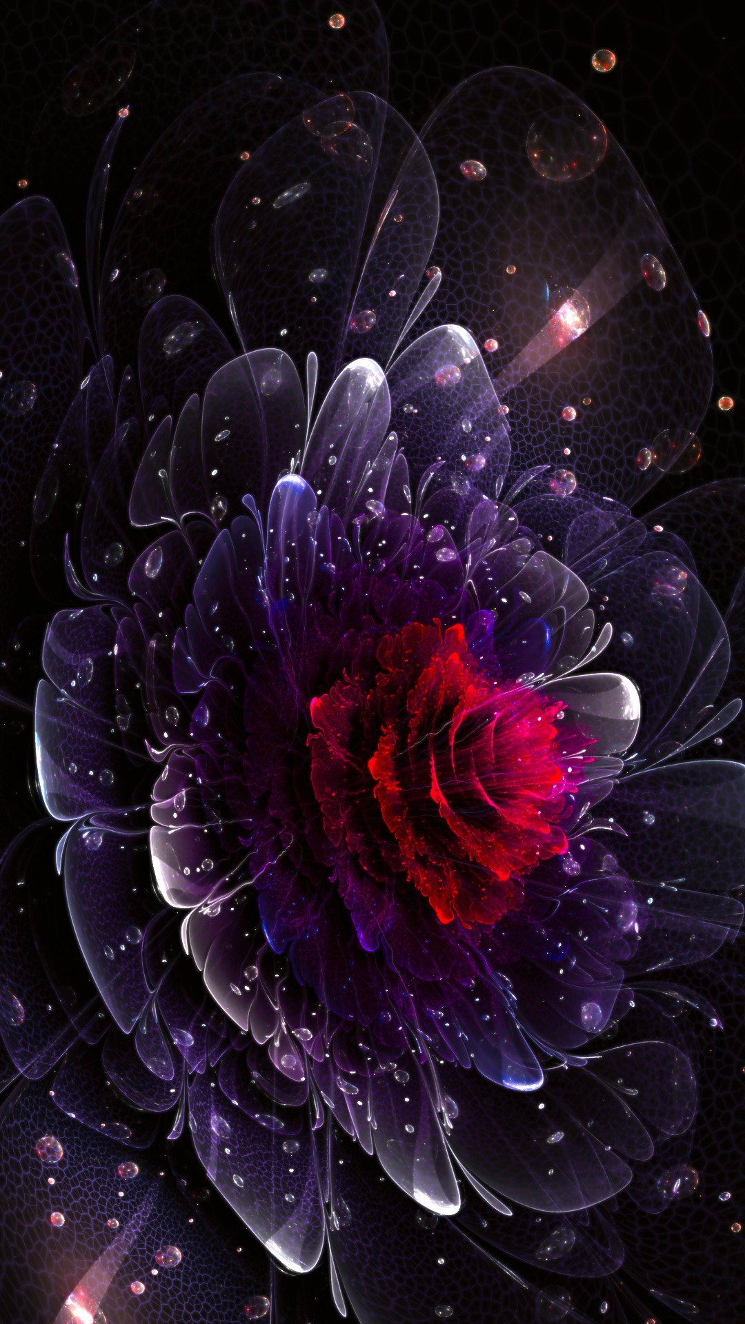 flower violet abstraction wallpaper 1080x1920