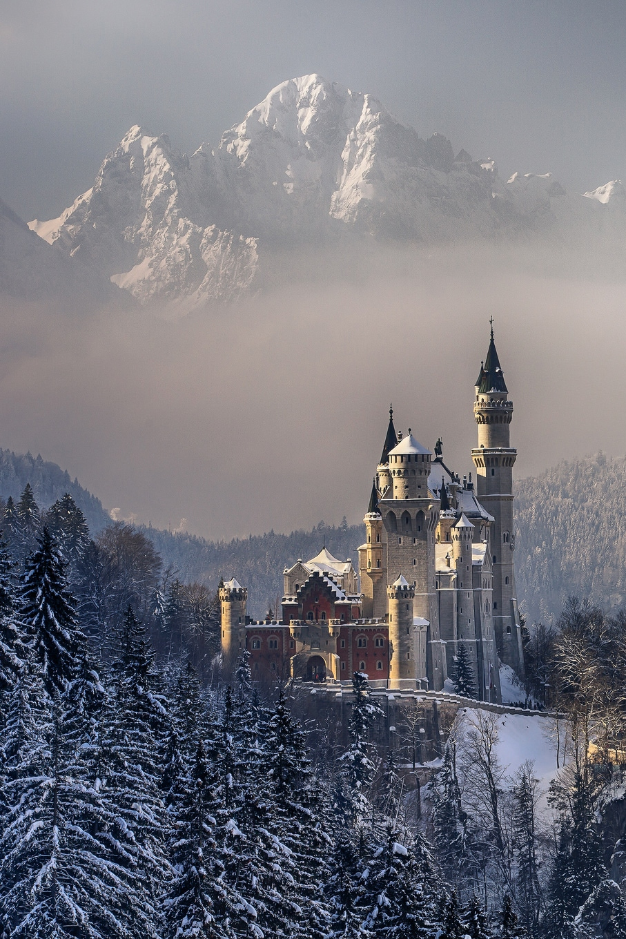 germany neuschwanstein castle palace architecture europe building tower