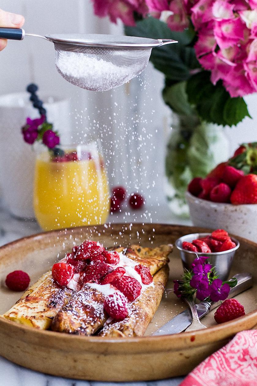 juice foodphoto berries sugar powder tasty