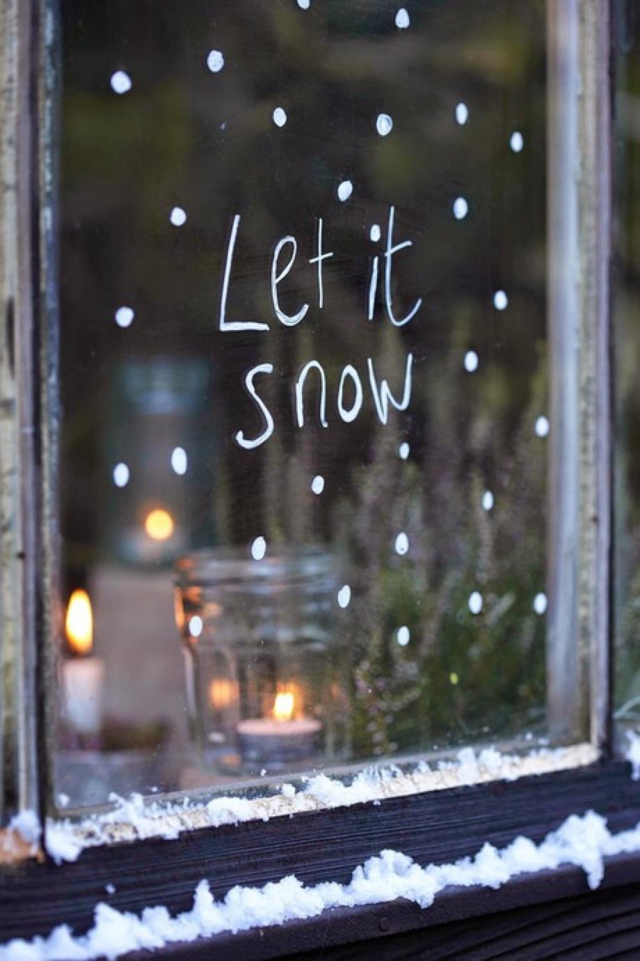 letitsnow window christmas