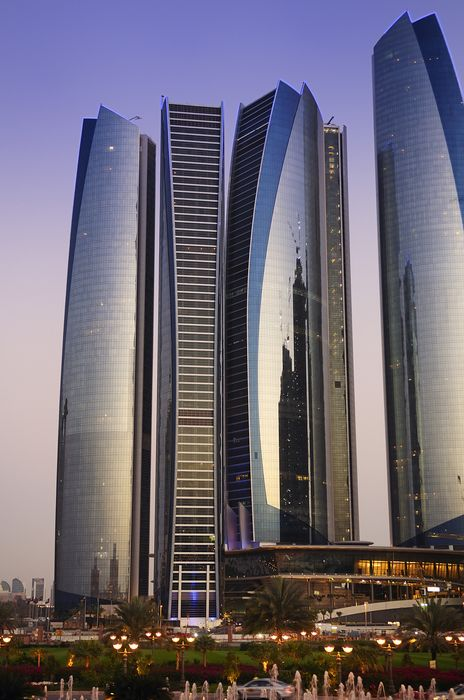 abu dhabi city skyscrapers