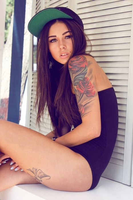 diana melison gorl model tatoo pretty