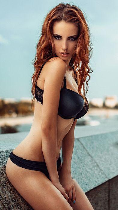 girl sexy black swimsuit look 1080x1920