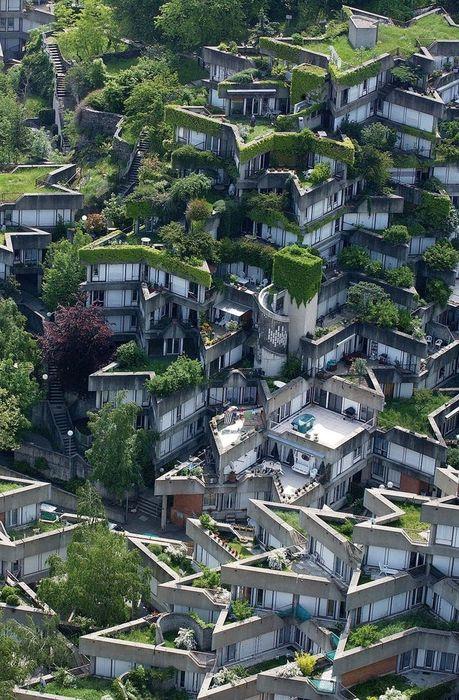 housing complex in ivry sur seine