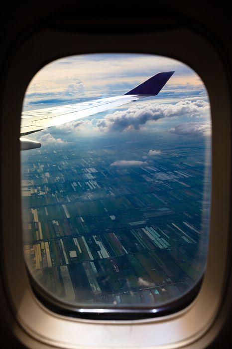 travel plane view