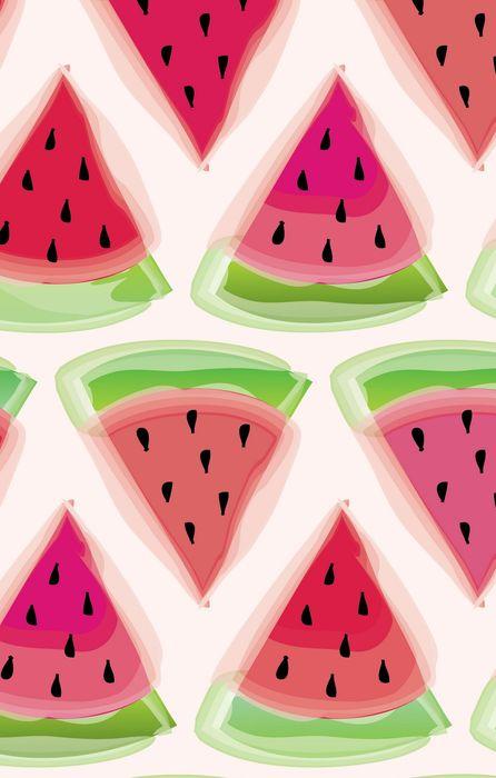watermelon print background paint iphone retina