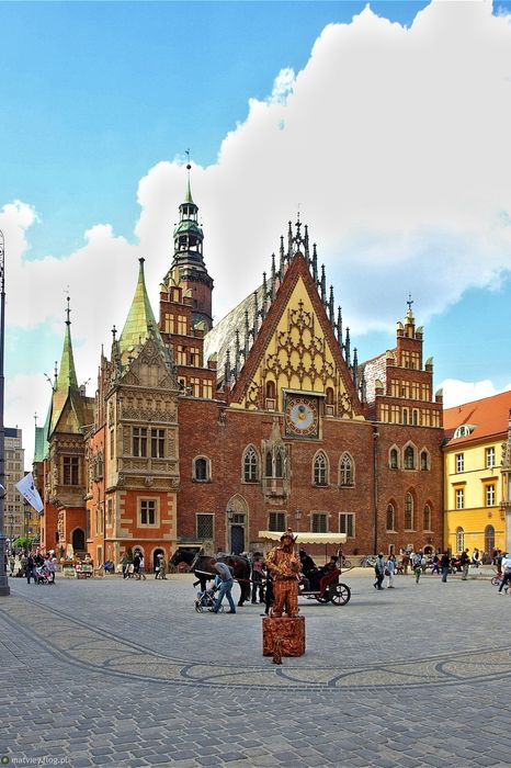 wroclaw town hall main square poland