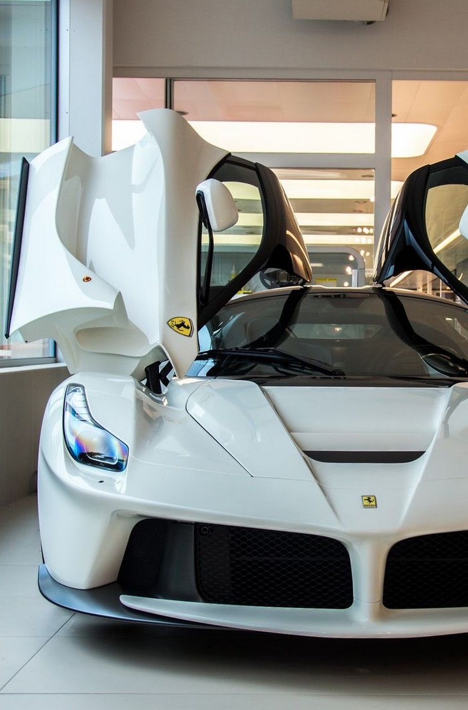white laferrari open doors 750x1334