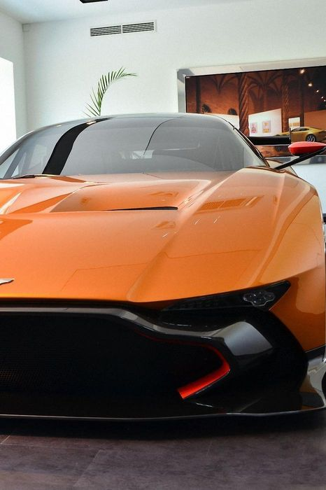 aston martin vulcan orange sportcar nurburgring