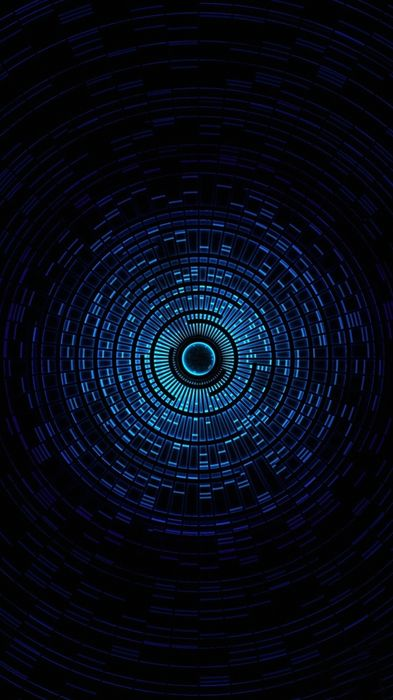 blue round tunnel abstract background iphone7 retina