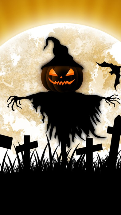 halloween horror scary silhouette creepy illustration moon celebration