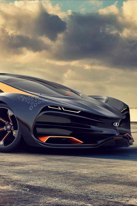 lada raven concept sportcar black