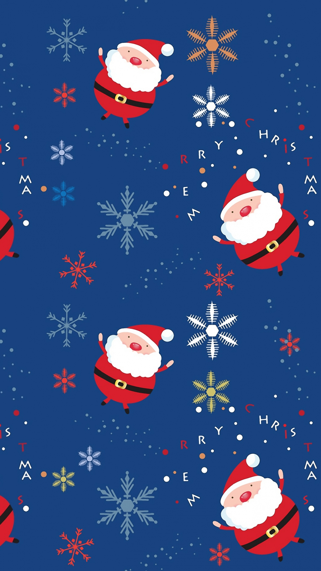 santa claus background snowflake 1080x1920