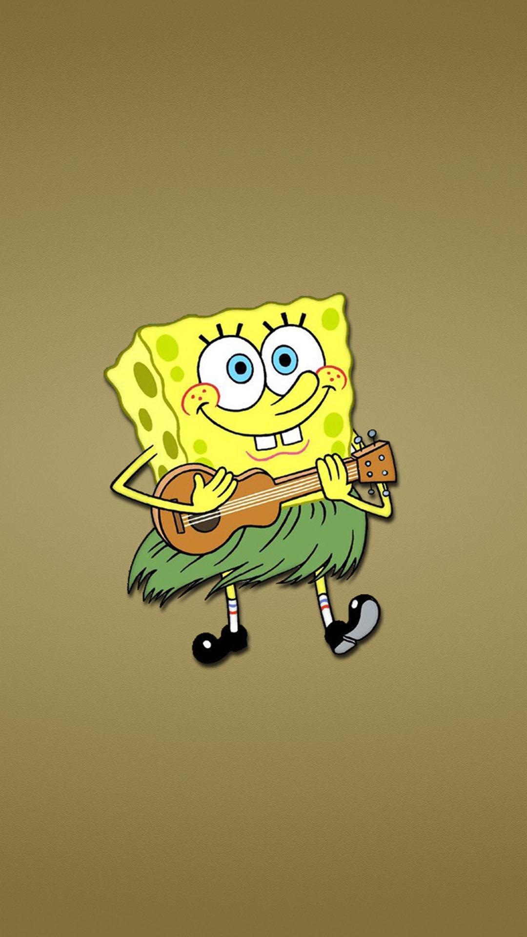 Spongebob Guitar Funny Wallpaper
