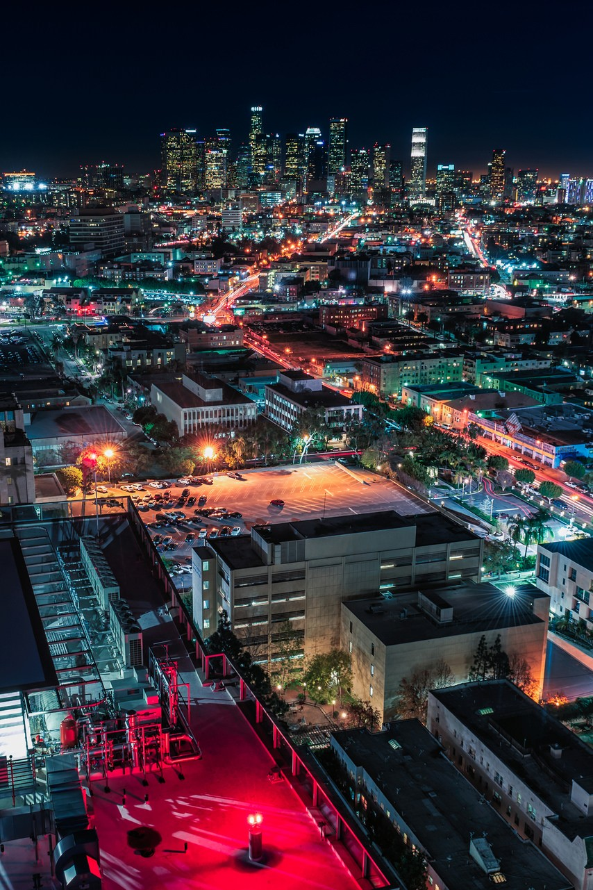 city night lights landscape