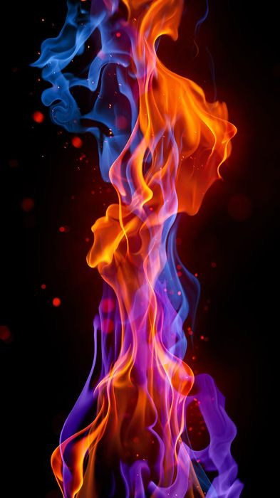 blue red fire 1080x1920