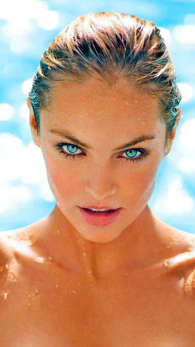 candice swanepoel girl wet water beaty