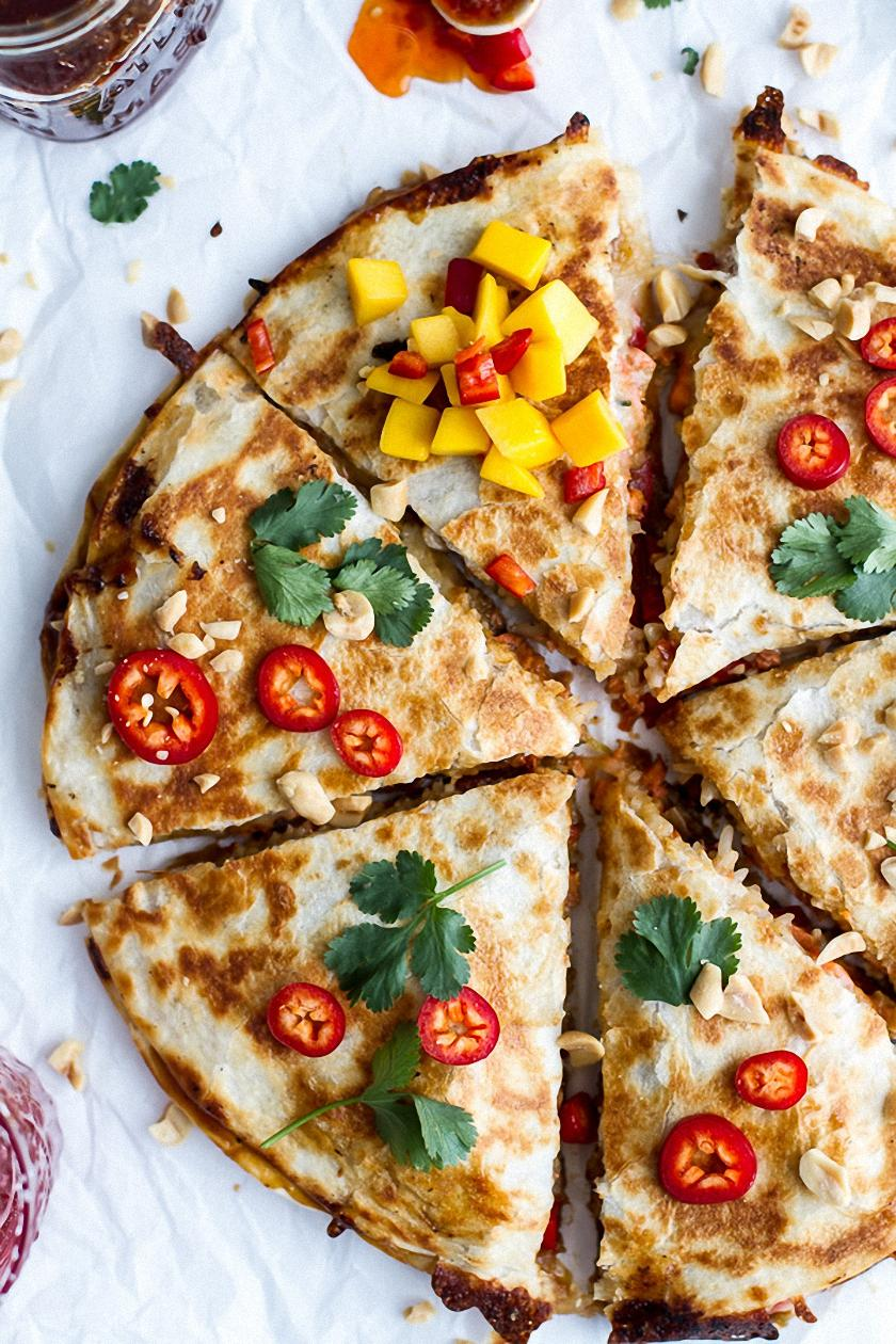 thai quesadillas tasty