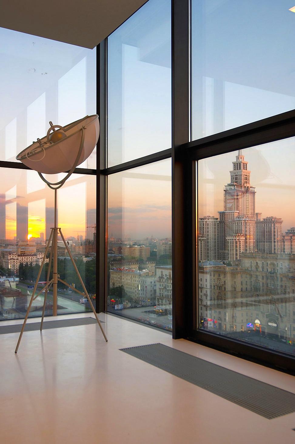 window apartment luxury city moscow