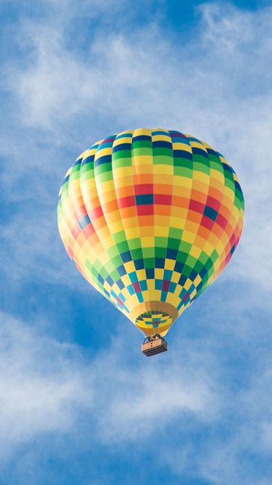 air balloon blue sky background iphone flying