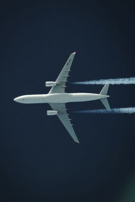 plane sky bottom view