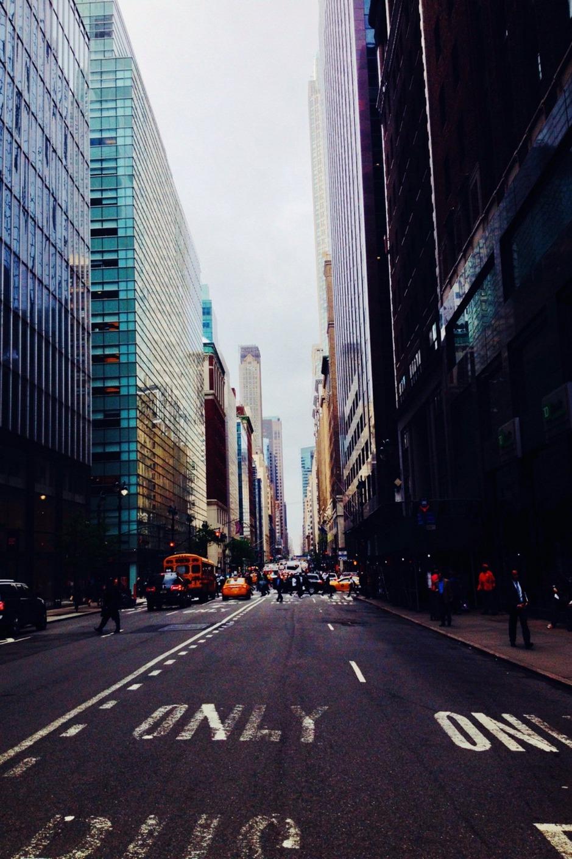 street skyscrapers atmosphere
