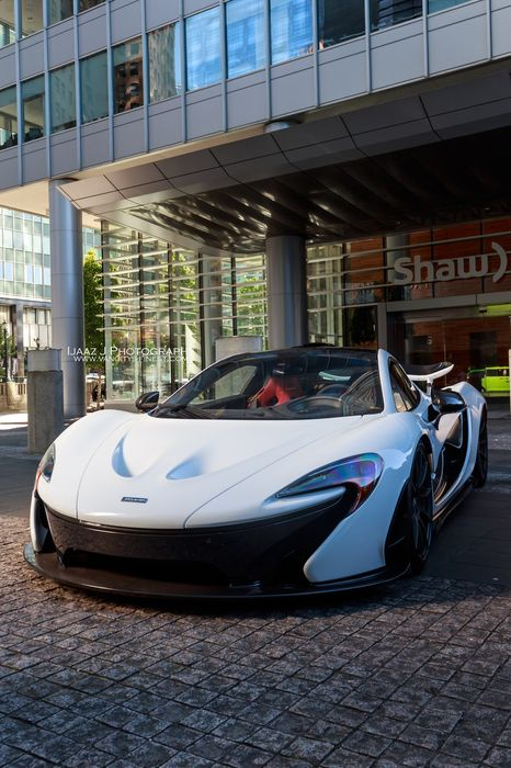 white mclaren p1 car vehicle motor sportscar auto