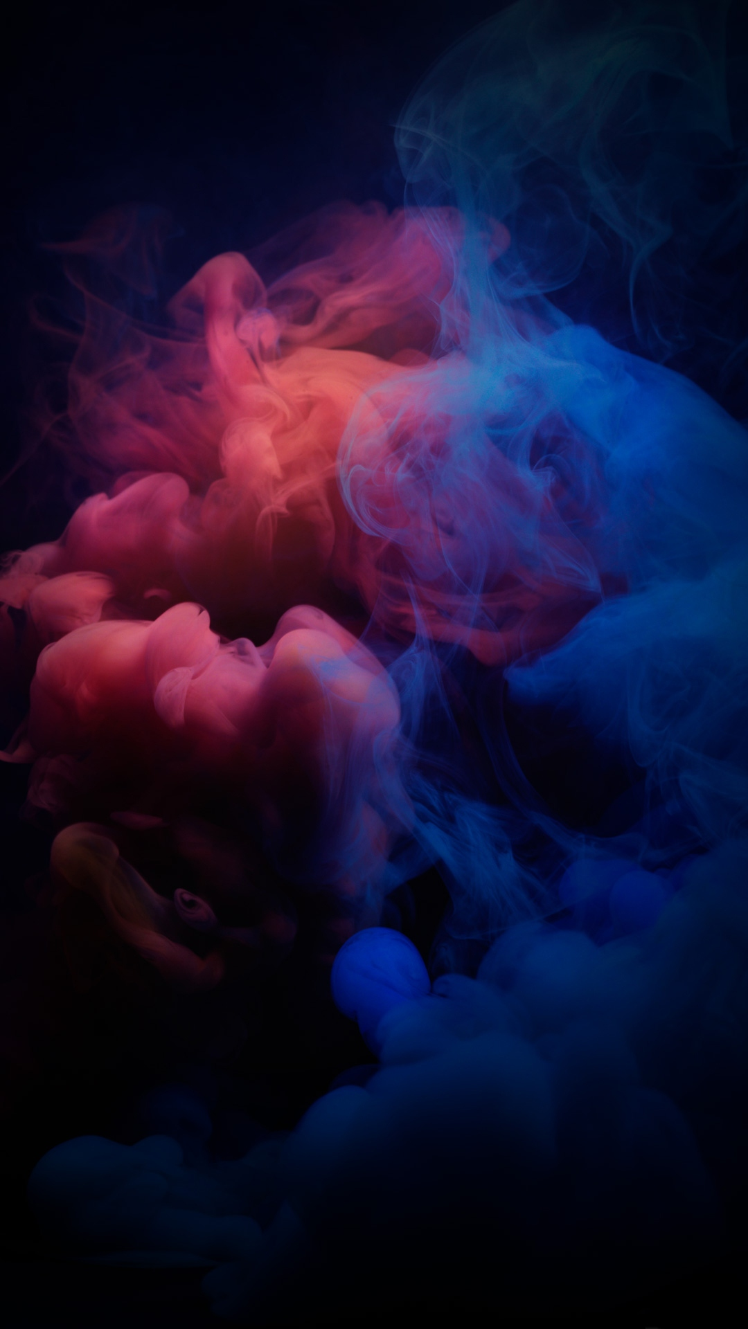 smoke red blue dark wallpaper 1080x1920