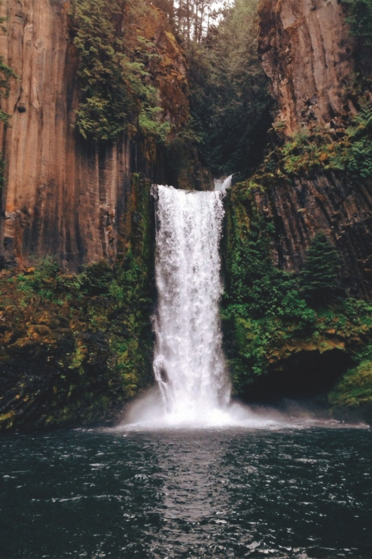 waterfall lake amazing