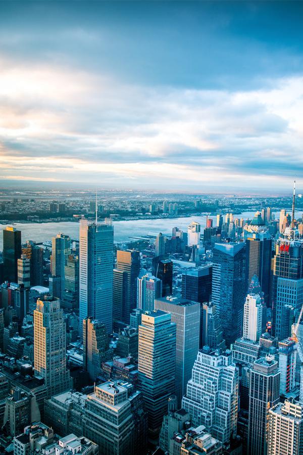 new york city sky blue filter