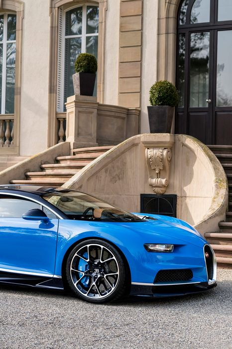 bugatti chiron supercar blue luxury house