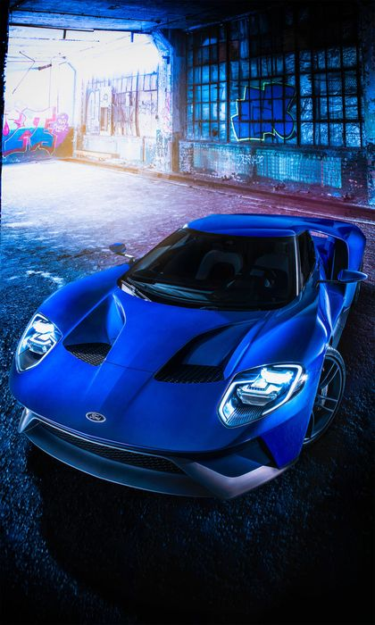 ford gt 2016 blue garage sportcar