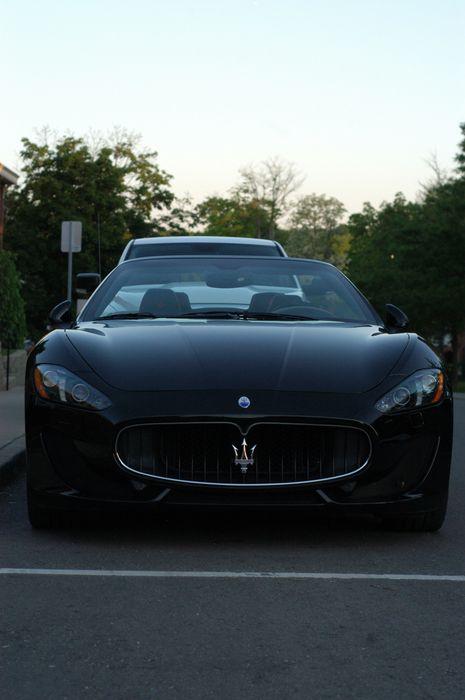 maserati black street sportscar luxury life