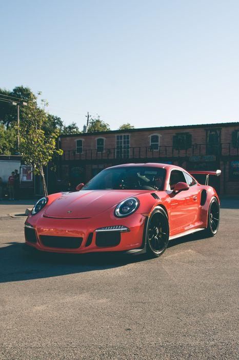 porsche 911 street red race sportcar