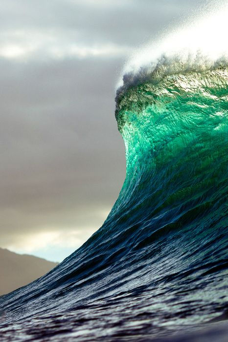 wave green blue high power nature surf