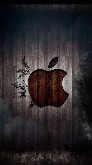 apple wood logo background