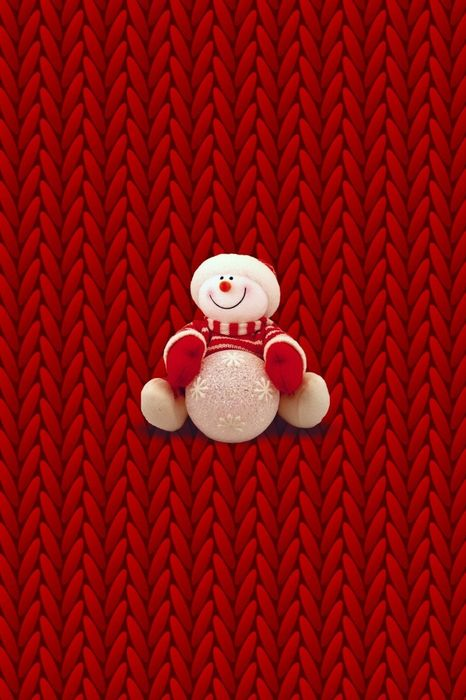 funny snowman red background wallpaper