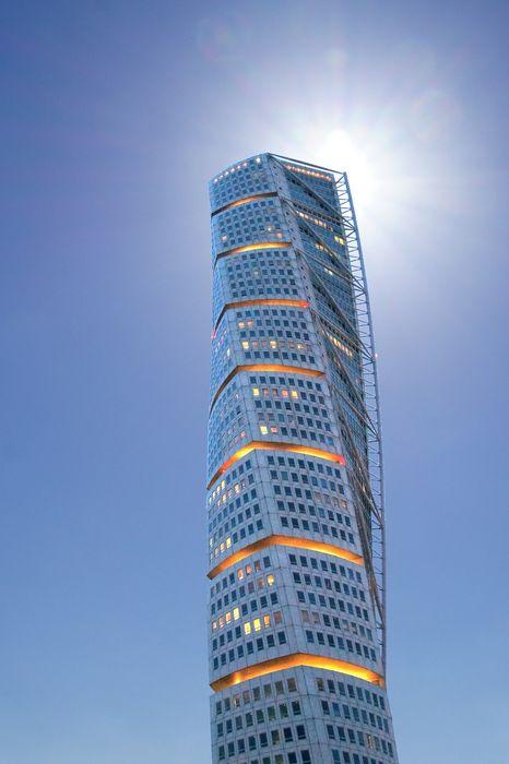 spiral skyscraper sky lights 1280x1920