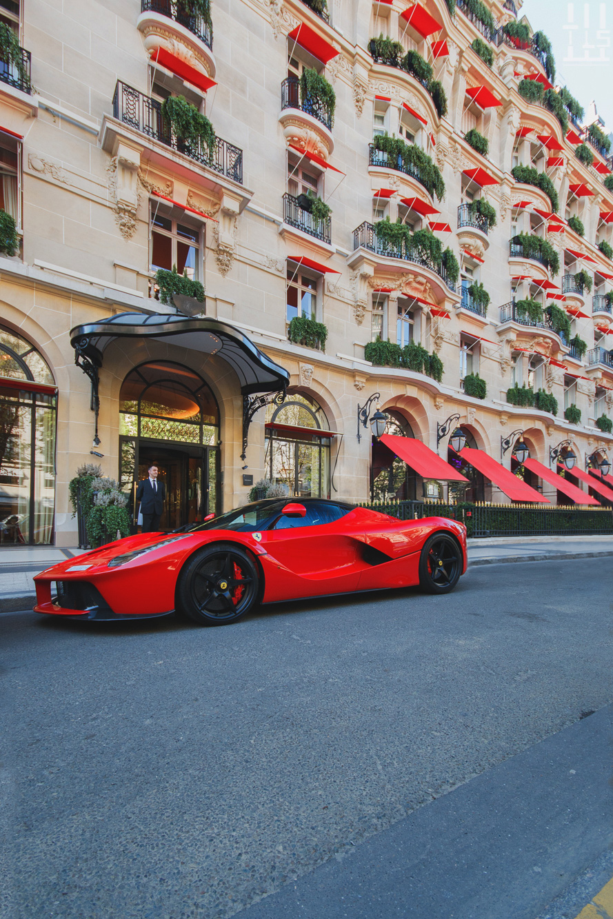 ferrari laferrari sportscar building sky city motor vehicle travel summer