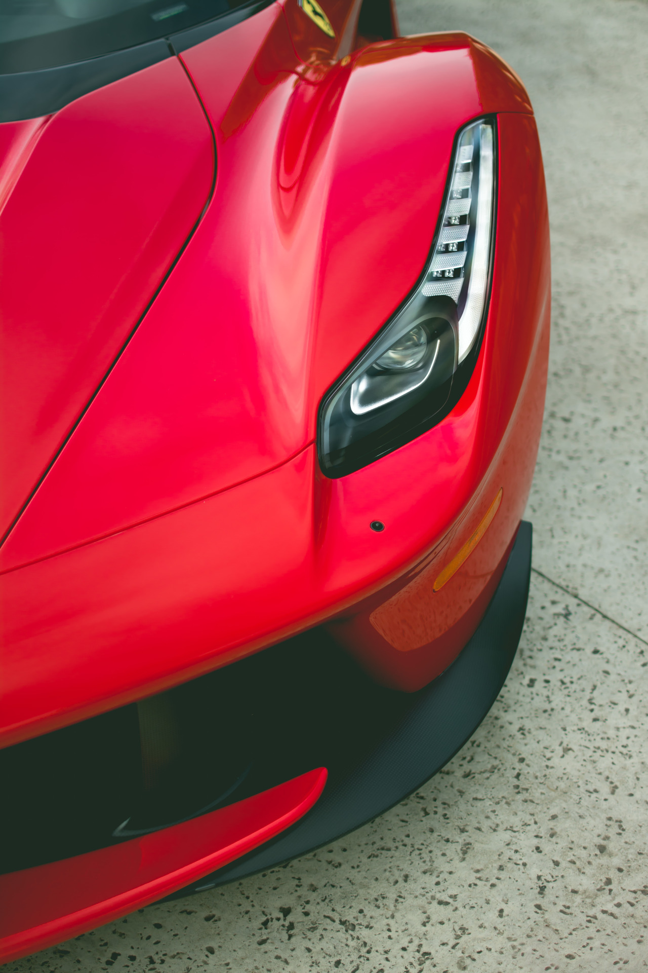 ferrari red laferrari macro photo sportscar