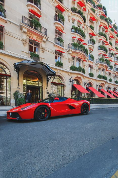ferrari laferrari sportscar building sky city motor vehicle travel summer