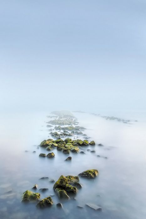 fog beach water sea landscape sky coast travel ocean sand summer