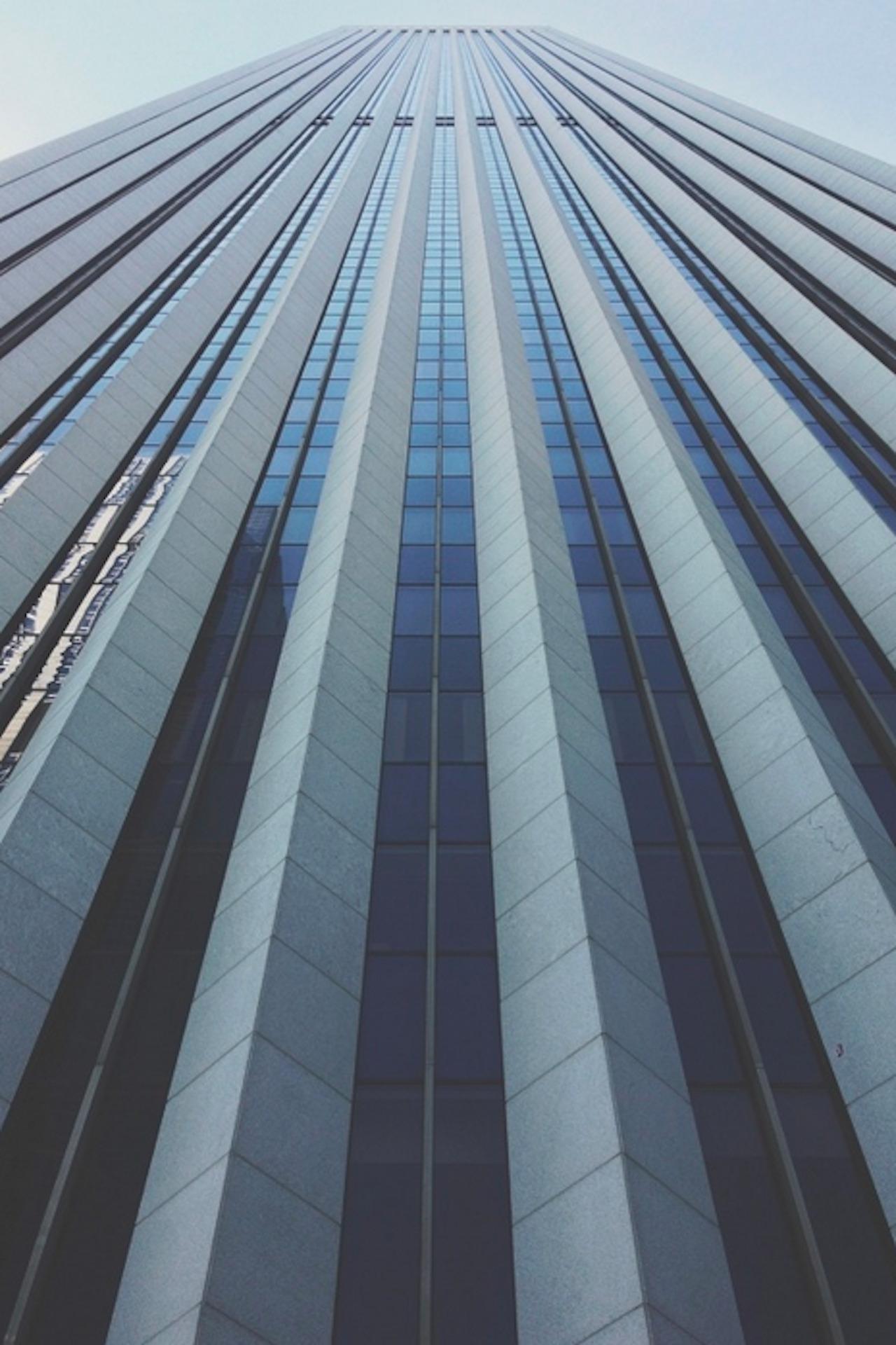 skyscraper glass architecture geometry