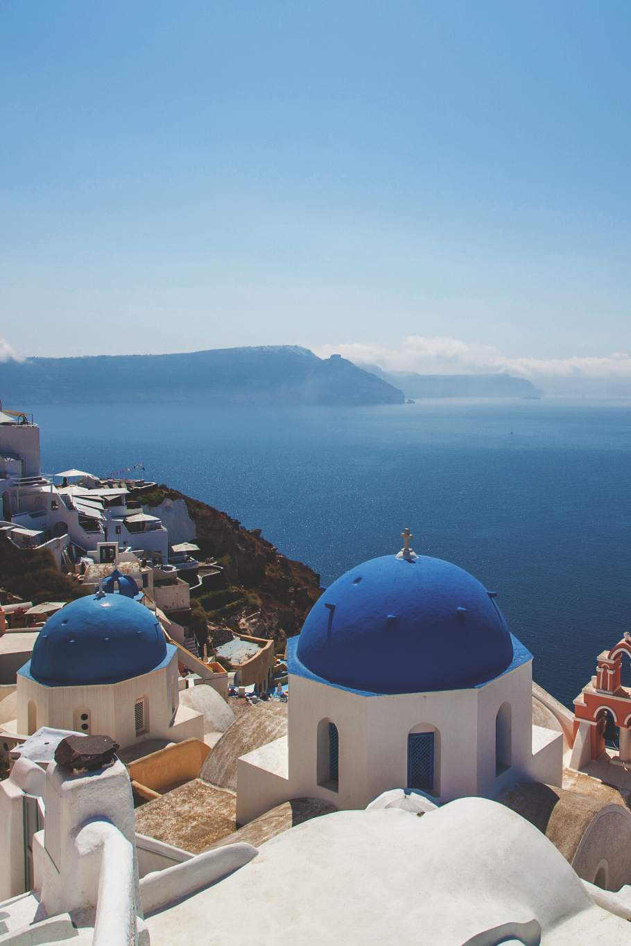 greece santorini sea water sky landscape ocean travel beach coast summer vacation
