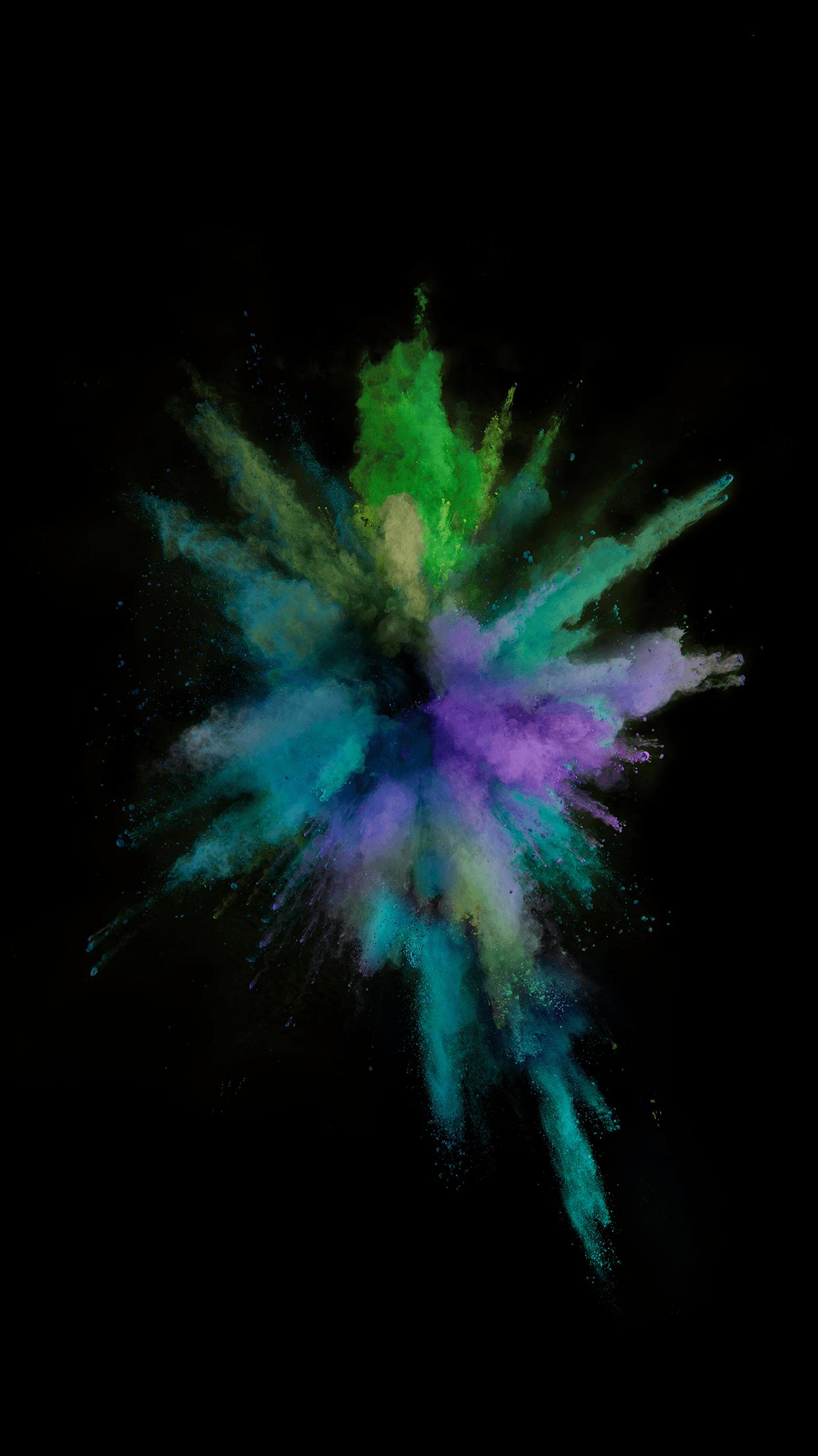 powder art fractal design iphone graphic background